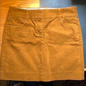 NWT J.Crew Cord Skirt Sz00